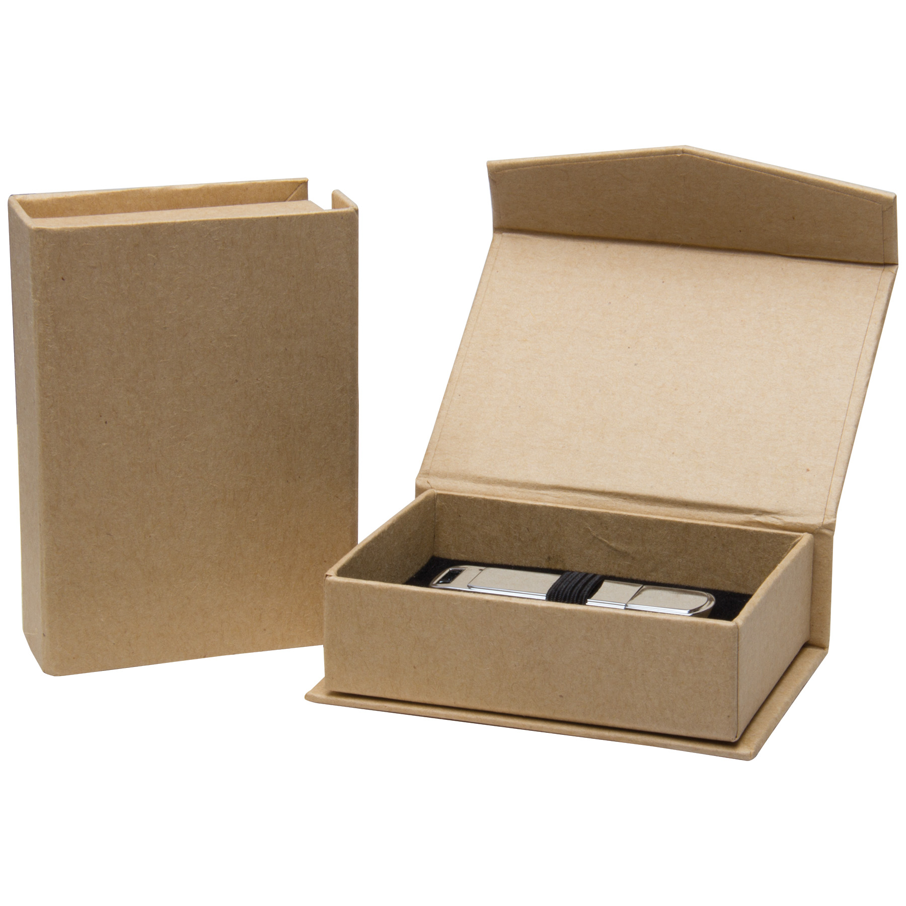Kraft flash drive box neil enterprises for Mercedes benz flash drive with box