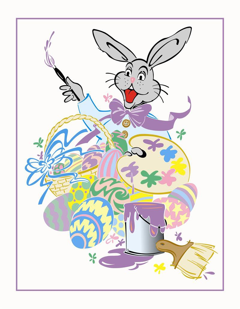 Easter wholesale photo mounts 3x5 easter bunny artist for Call the easter bunny phone number