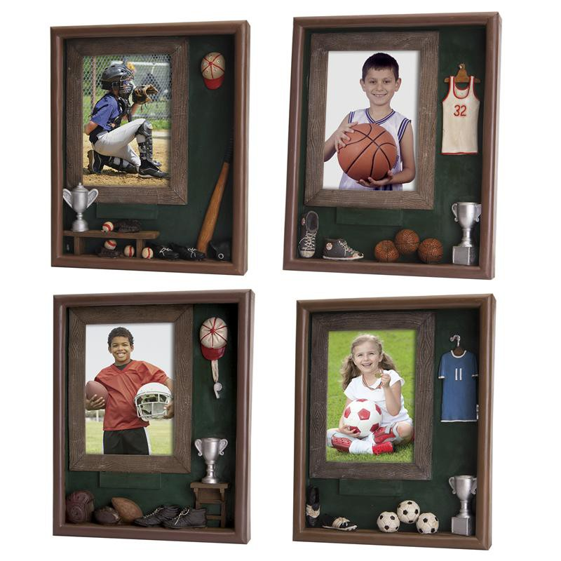 sport room box picture frames