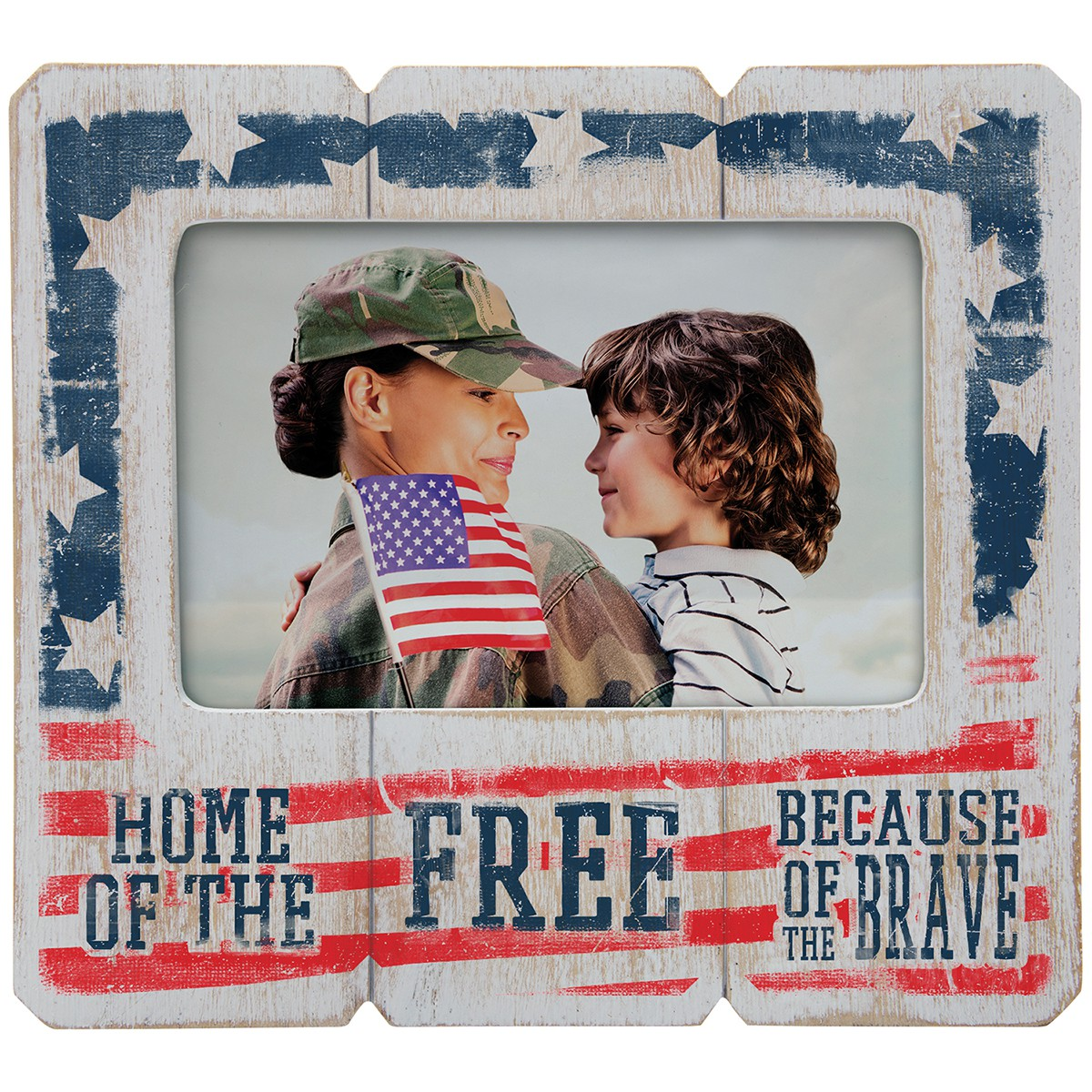 Wholesale 6x4 4th of July Patriotic Wood Picture Frames | Neil ...