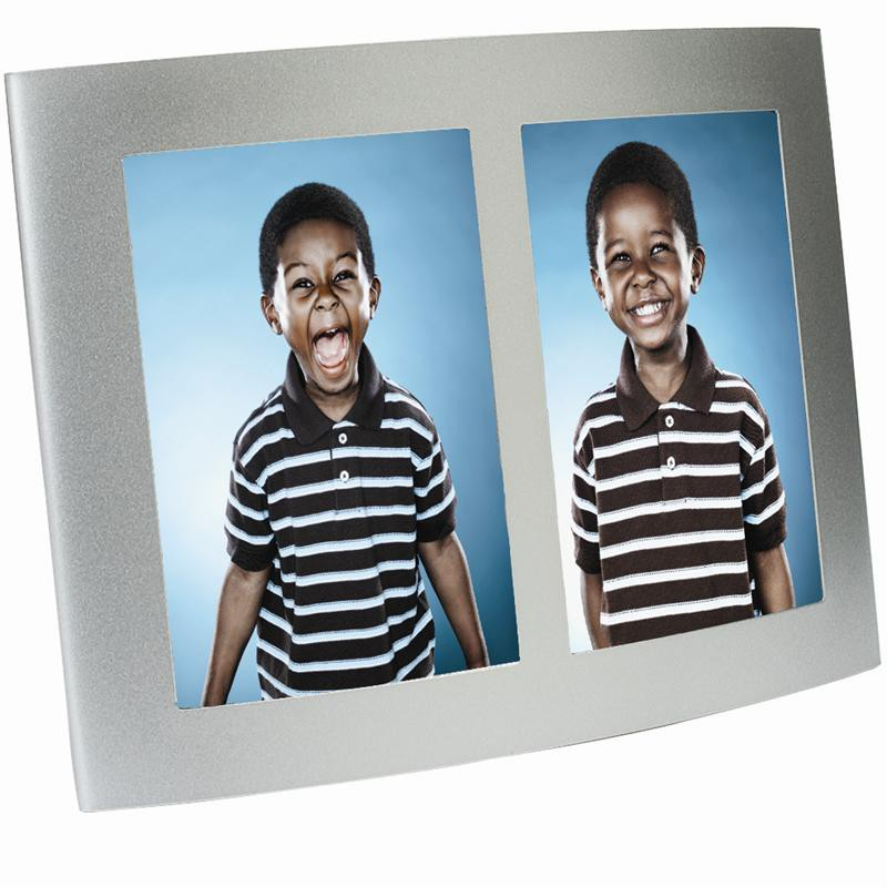Wholesale Picture Frames - Silver Double Picture Frame   Neil ...