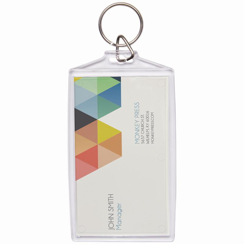 Wholesale Acrylic Snap-In Business Card Keychains | Neil Enterprises