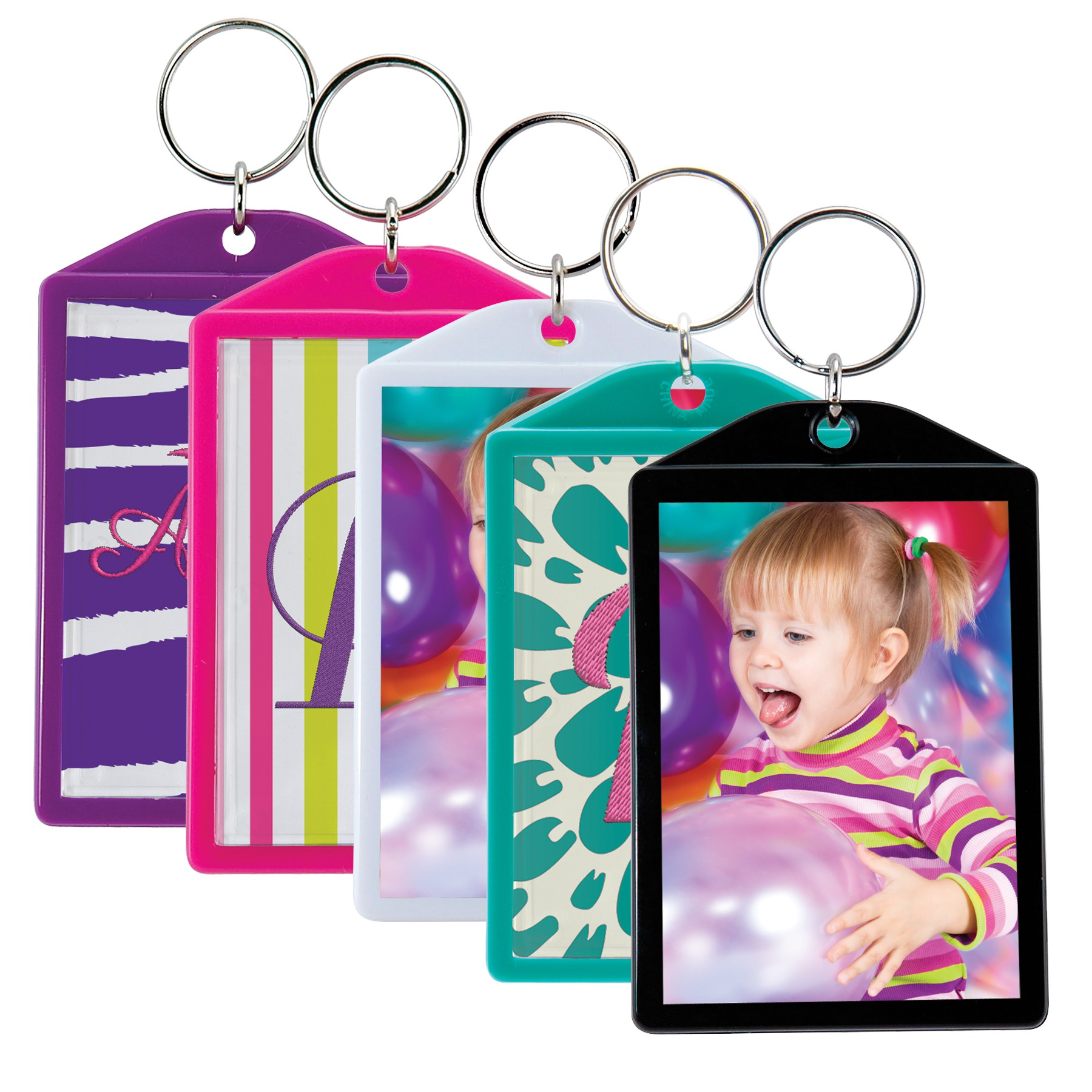 Opaque Color Photo Keychains