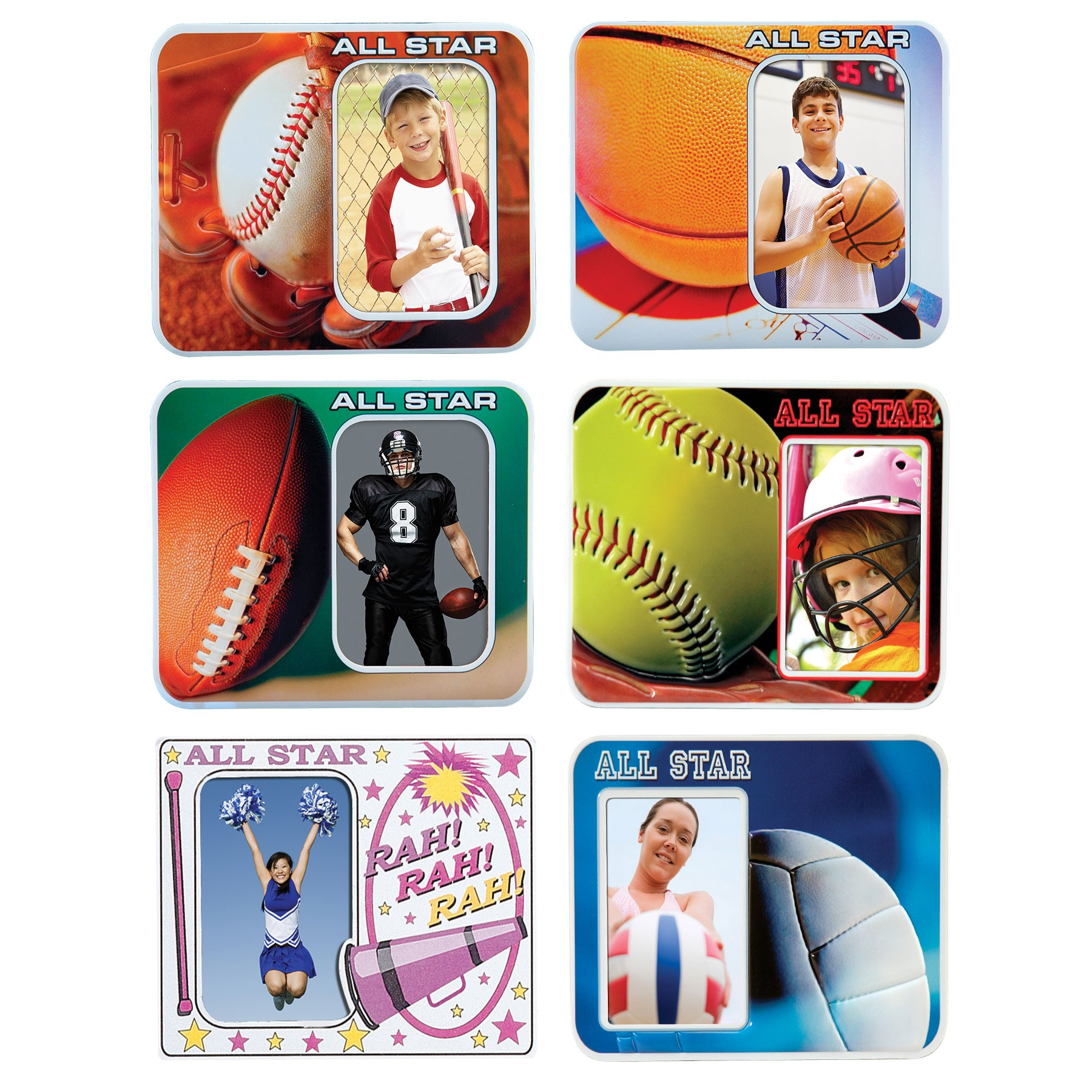 all star sports vinyl puff frames