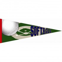 Softball Photo Pennant