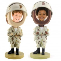 Soldier Photo Bobble Heads