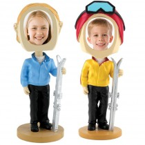 Skier Photo Bobble Heads