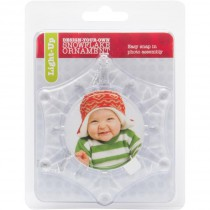 Light Up Snowflake Photo Ornament