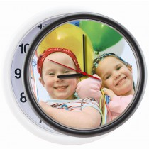 Plastic Round Photo Wall Clocks