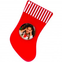 "2.25"" Stocking Photo Ornament"
