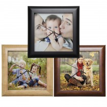 Square Wood Photo Clocks
