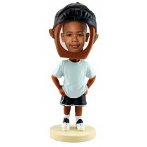 Hip Hop Boy Photo Bobble Heads - Dark Skin Tone