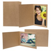 wholesale Natural Brown Kraft Photo Folder