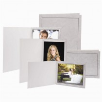 Traditional Grey Marble Photo Folders