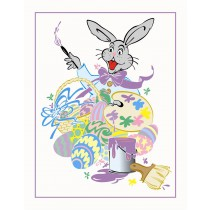 "3"" x 5"" Easter Bunny Artist Photo Folders"