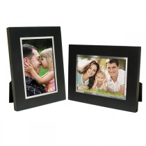 Black Wood w/ Silver Bezel Picture Frame
