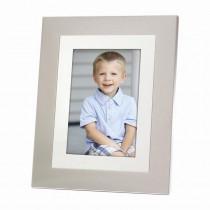 Mirror & Brushed Aluminum Picture Frame