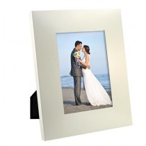 Large Brushed Silver Picture Frame