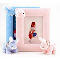 Soft Touch Bunny Picture Frame