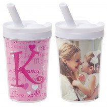 Wholesale DIY Kids Photo Tumbler with Straw