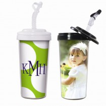 20 oz. Travel Tumbler with Bendy Straw