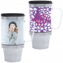 16 oz stainless steel photo travel mug