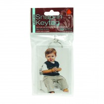 """Clear Standard Snap-In Photo Keychains - 2"""" x 2-7/8"""""""