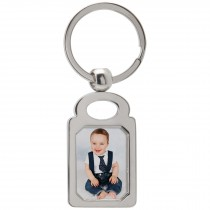 Wholesale Silver Metal Sublimation Photo Keytags