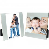 Brushed Silver Clip Picture Frames