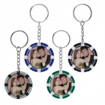 Wholesale Snapins Photo Poker Chip Keytag