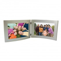 Silver Dual Hinged Curve Picture Frame
