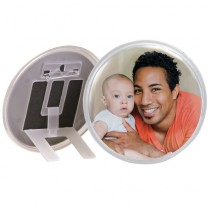 Circle Snap-in Photo Button/Frame