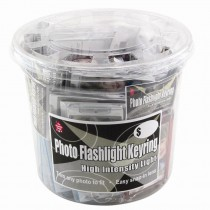 Wholesale Snap-In Photo Keychain Bucket for Retail Sales