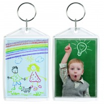 Clear Standard Snap-In Photo Keychains