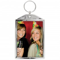 Chrome Color Photo Keychain
