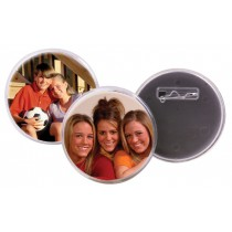 Snap-in Pin Back Photo Buttons