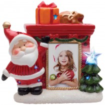 Light Up Santa Fireplace Christmas Tree Picture Frame for 2x3 photo