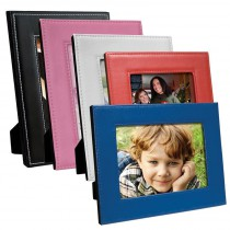 Color Leatherette Stitch Picture Frames