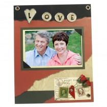 Love Scrapbook Picture Frame