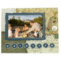 Vacation Scrapbook Picture Frame