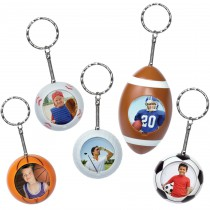 Sports Ball Photo Keychains