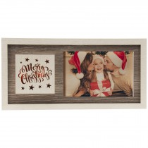 Light Up Wood Merry Christmas Wholesale Picture Frame for 6x4 horizontal photo