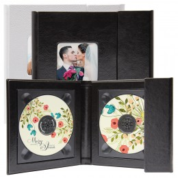 Two Disc cd holder with photo bulk