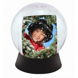 Sphere Photo Snow Globe with Black Base