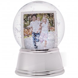 Sphere Photo Snow Globe with Chrome Base