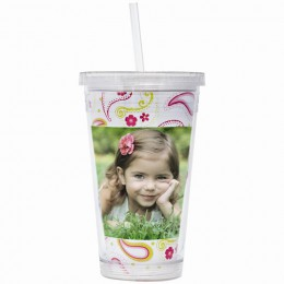 16 oz. Acrylic Tumbler with Straw