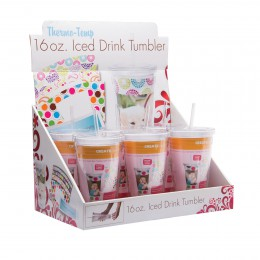 16 oz. Acrylic Tumbler with Straw - Retail 6 Pack