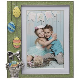 Easter Green Glitter Pewter Picture Frame