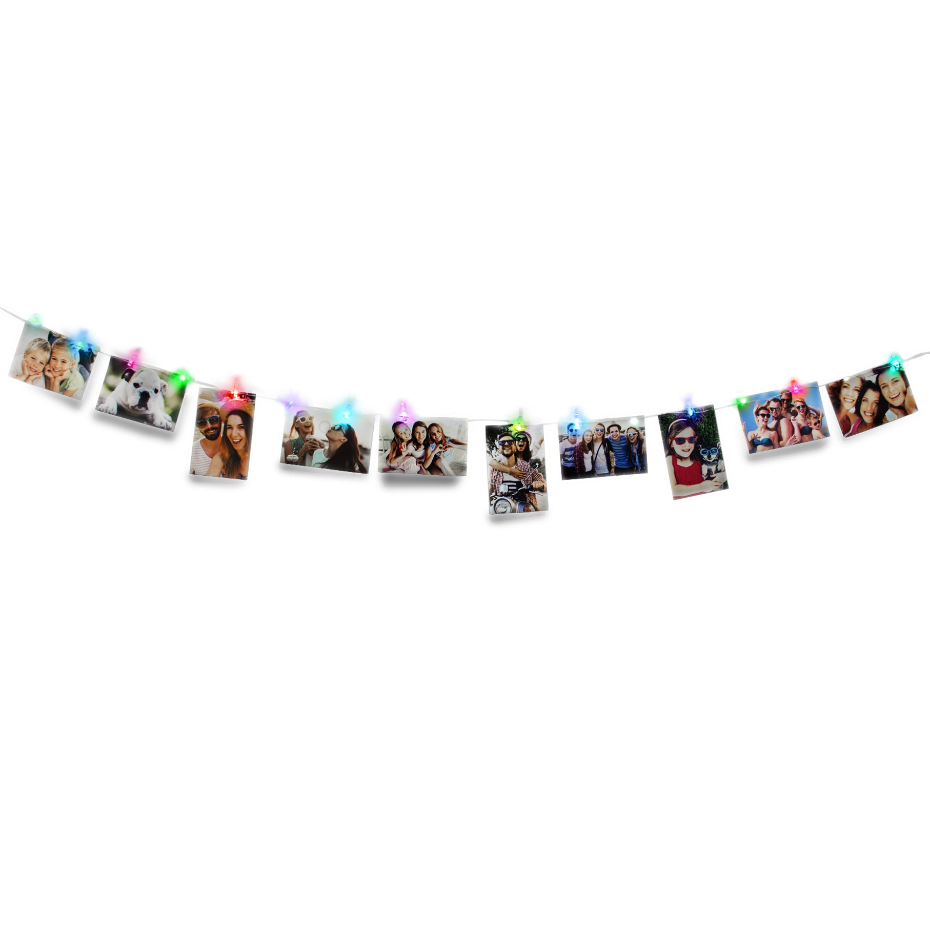Color Changing LED Photo Clip String Lights