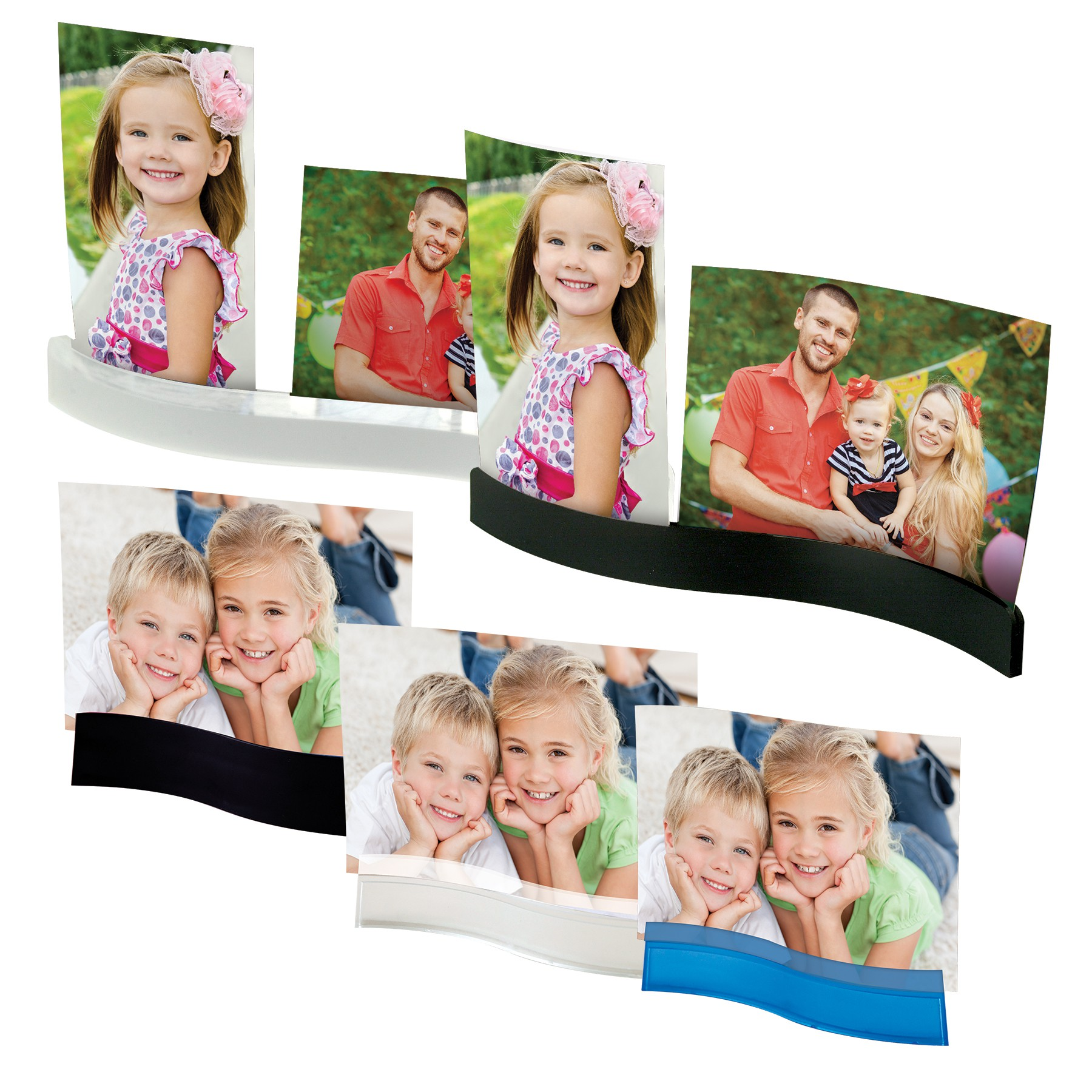 Wave Photo Frame/Stand
